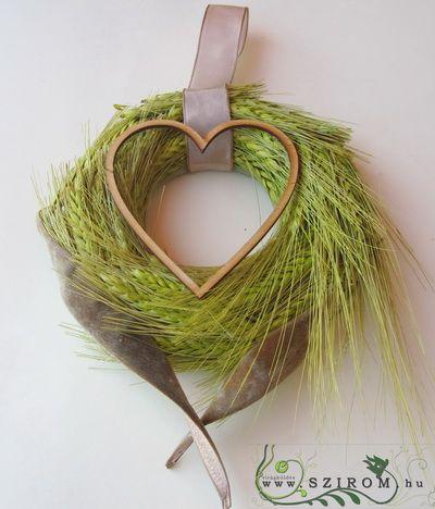 őszi kopogtató szívvel (17cm)