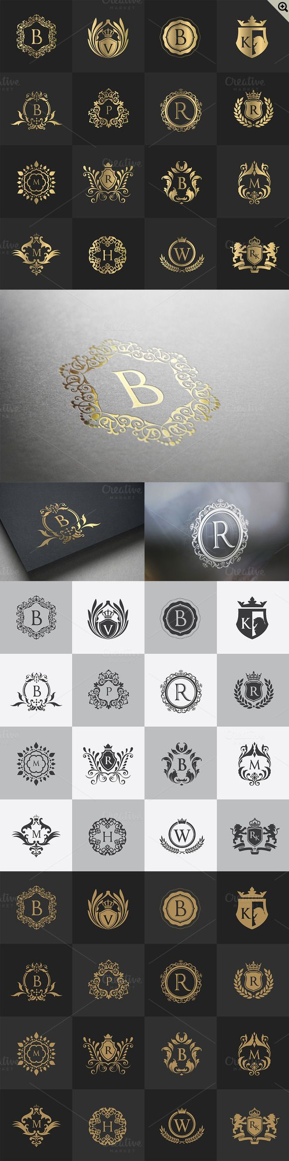 32 Luxury logo Calligraphic by Super Pig Shop on @creativemarket