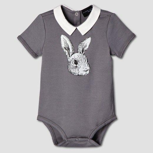 Baby Dark Grey Bunny Collared Bodysuit - Victoria Beckham for Target : Target