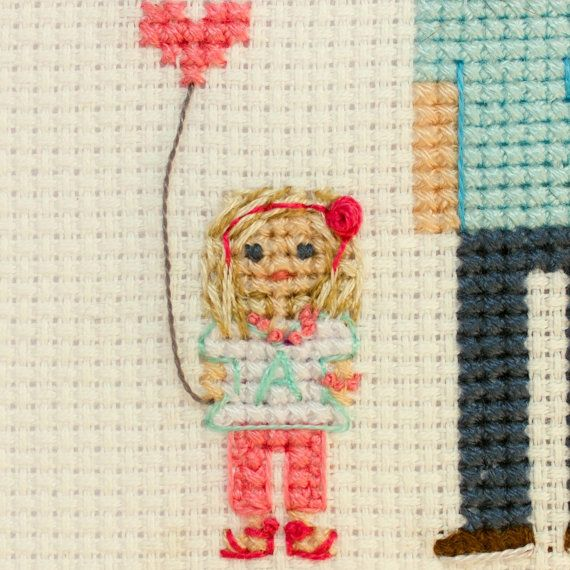 2 Adults And 2 Kids. Custom Cross Stitch Family от RussianStitches