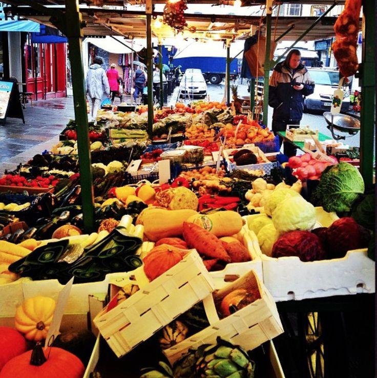 Typical Greengrocer stall in Portobello (near Colville Terrace).