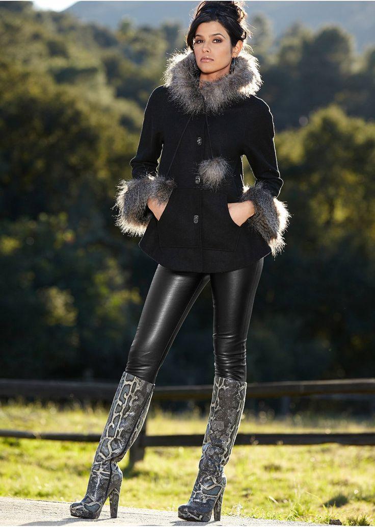 Faux fur trim coat | Coats & jackets | Womens Clothing | bonprix