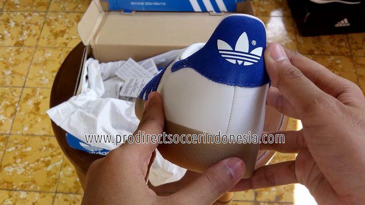 Sepatu Sneakers Adidas Gazelle Vintage White Blue S76225 original