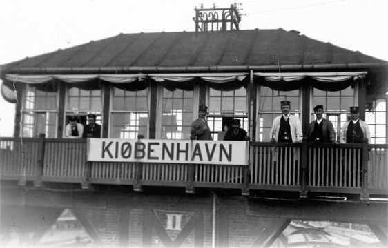 Kommandopost ved Københavns Hovedbanegård ca. 1915