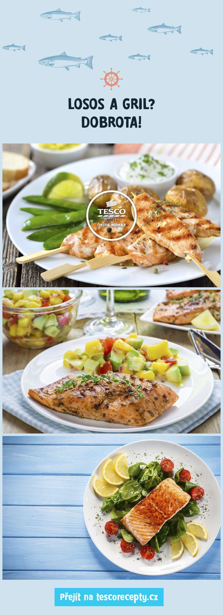 Vyzkoušejte naše recepty lososa na grilu!