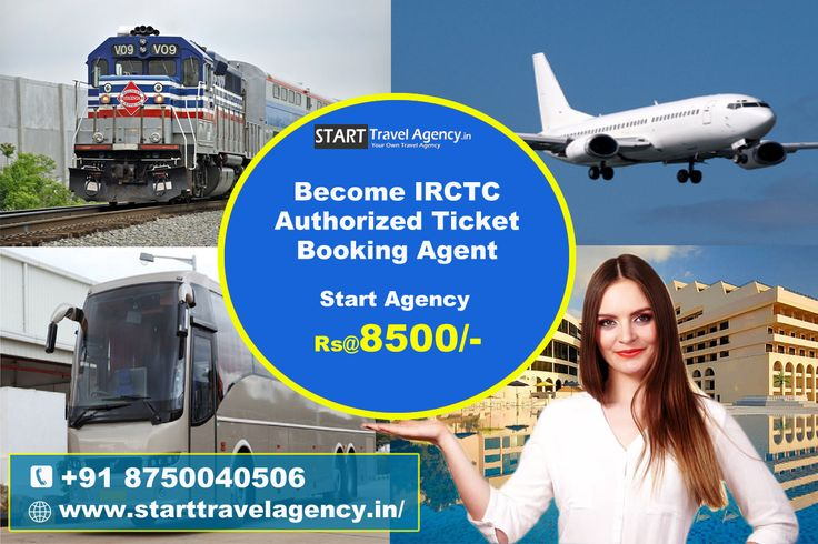 We are providing opportunity to become Indian railway authorised e-ticketing agent, to start a ticket booking agency you need IRCTC. know more details : http://www.starttravelagency.in/