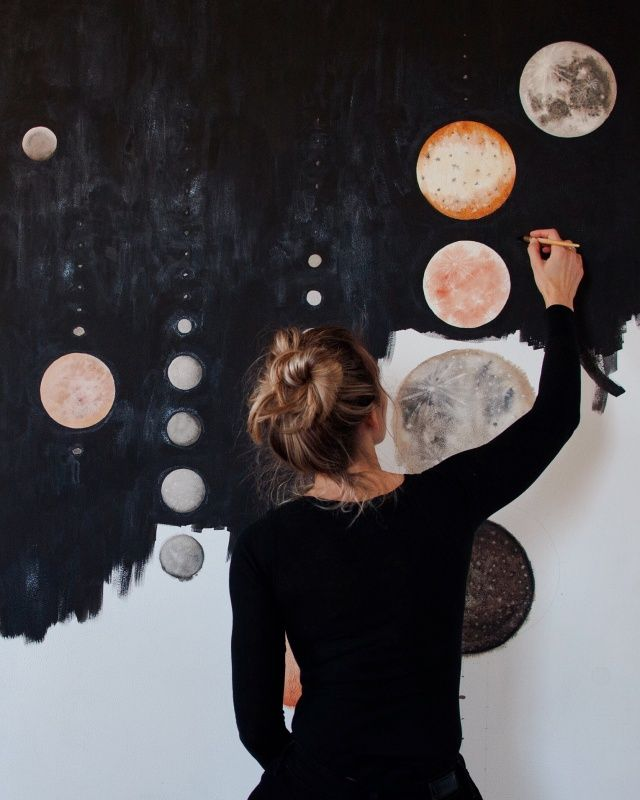 all the moons www.stellamariabaer.com would make a Great Wall area in class