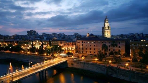 Murcia al anochecer