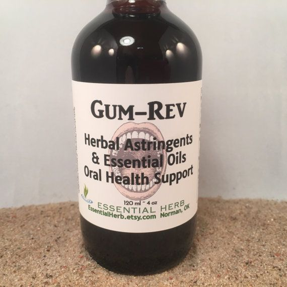 GUM-REV is a formulation of powerful herbal tinctures and pure essential oils, which powerfully support the vital health and maintenance of the mouth, REV-ersing concerns about pockets, receding gums, and REViving oral gum health. Herbs and oils with known anti-inflammatory, #oralgum
