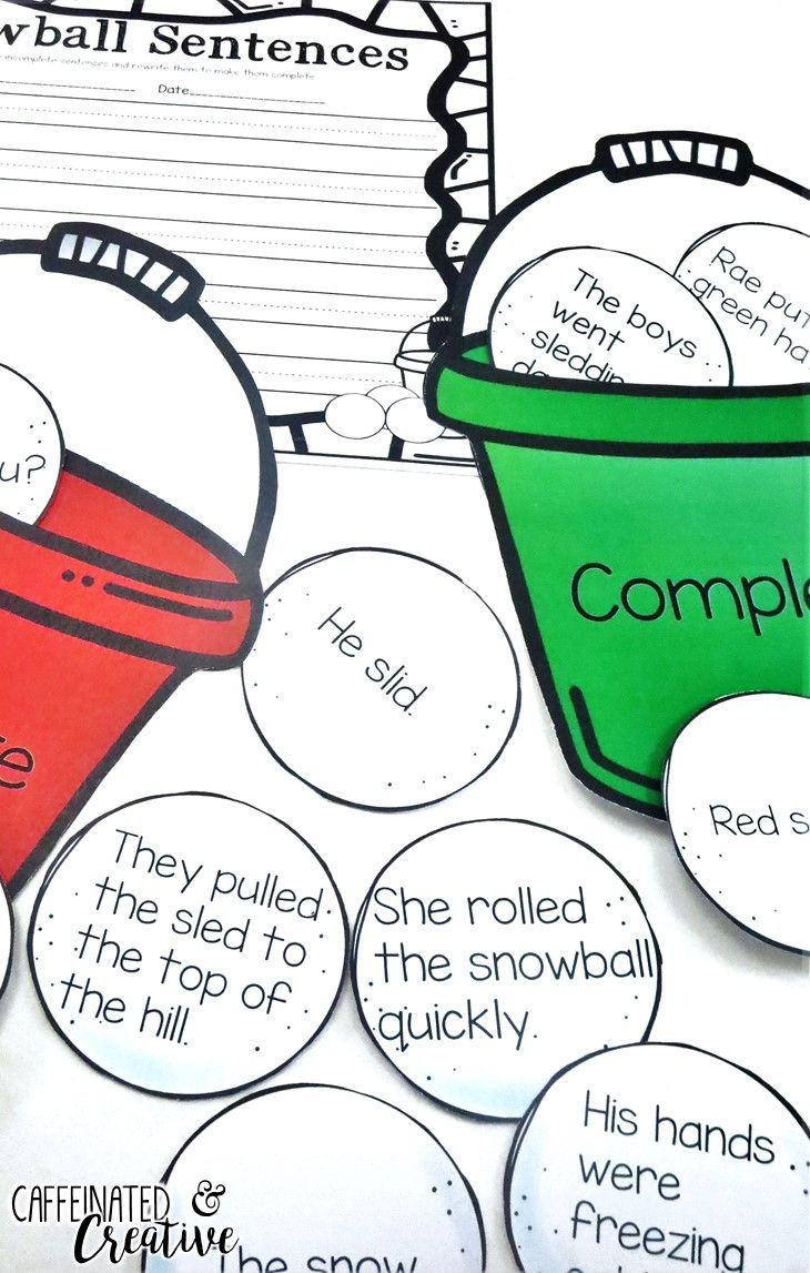Best 20 incomplete sentences ideas on pinterest sentences snowball complete and incomplete sentences center is a fun and interactive way for robcynllc Images