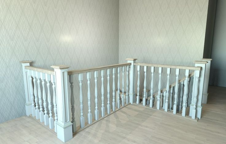 "3D project stairway (balustrade) designed in ""Conception Design Interior"""