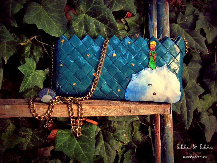 Little prince - a handmade bag, made of paper and with special care.