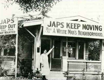 During World War II Japanese Americans experienced this sort of fear and hatred in a place they thought of as home.