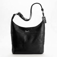 COACH F17116 BLACK Leather Piece Duffle