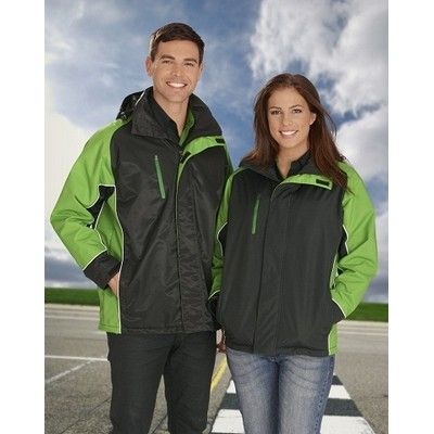 Unisex Full Zip Storm Jacket Min 25 - This unisex jacket is made from 100% nylon on its outer lining, 100% poly micro fleece on its body lining and 100% poly on its sleeve lining and has a full zip with storm flap. http://www.promosxchange.com.au/unisex-full-storm-jacket/p-11135.html