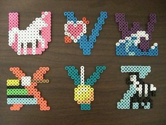 Alphabet perler beads