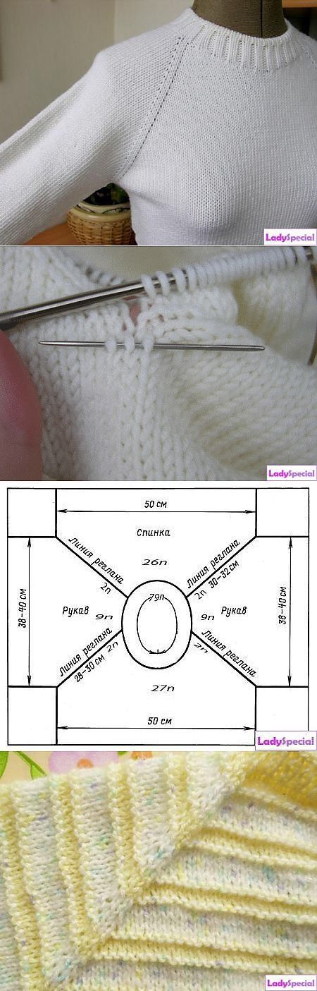 Knit pulli top-down