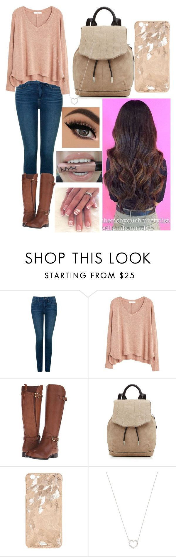 """Tori Vega (from Victorious) inspired outfit"" by x1dlover4everx ❤ liked on Polyvore featuring NYDJ, MANGO, Naturalizer, rag & bone, Tiffany & Co. and NYX"