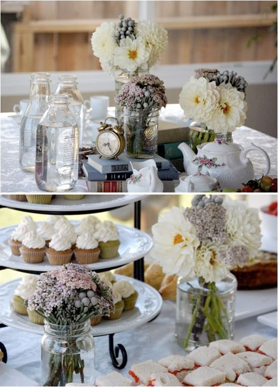 Alice in wonderland bridal shower tea party idea the