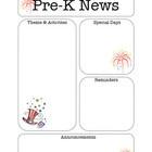 pre k newsletter templates