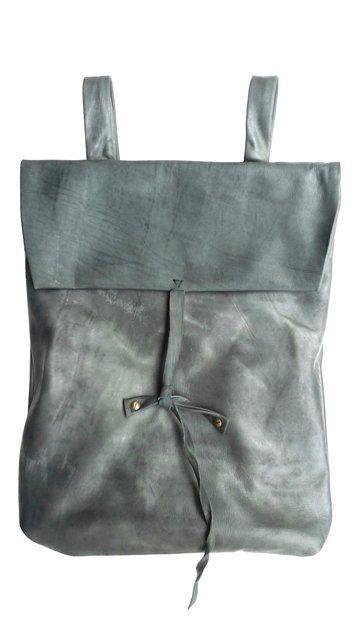 ::nutsa modebadze: Grey Bags, Modebadze Backpacks,  Postbag, Mailbag, Everyday Bags, Nutsa Modebadze, Backpacks Leather, Grey Purses, Accessories