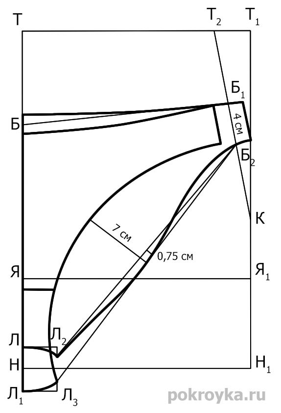 Как правило, бельевые изделия шьются из различных по своим свойствам материалов, и это следует учитывать при построении выкройки. Если в модели используются неэластичные материалы, то конструкция выполняется на основе размерных признаков фигуры плюс прибавки на свободное облегание, величина которых зависит от особенностей конкретной модели. Если в модели используются материалы с невысокой степенью эластичности, то чертеж [...]