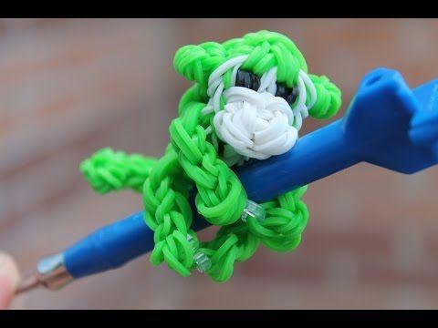 Rainbow Loom, 3D Monkey Rainbow Loom Charm, Loom bands instructions, how to make - YouTube