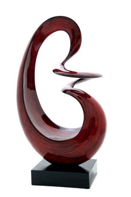 Sculpture Abstract Cygnet Sunset - Abstract metal wall art sculptures