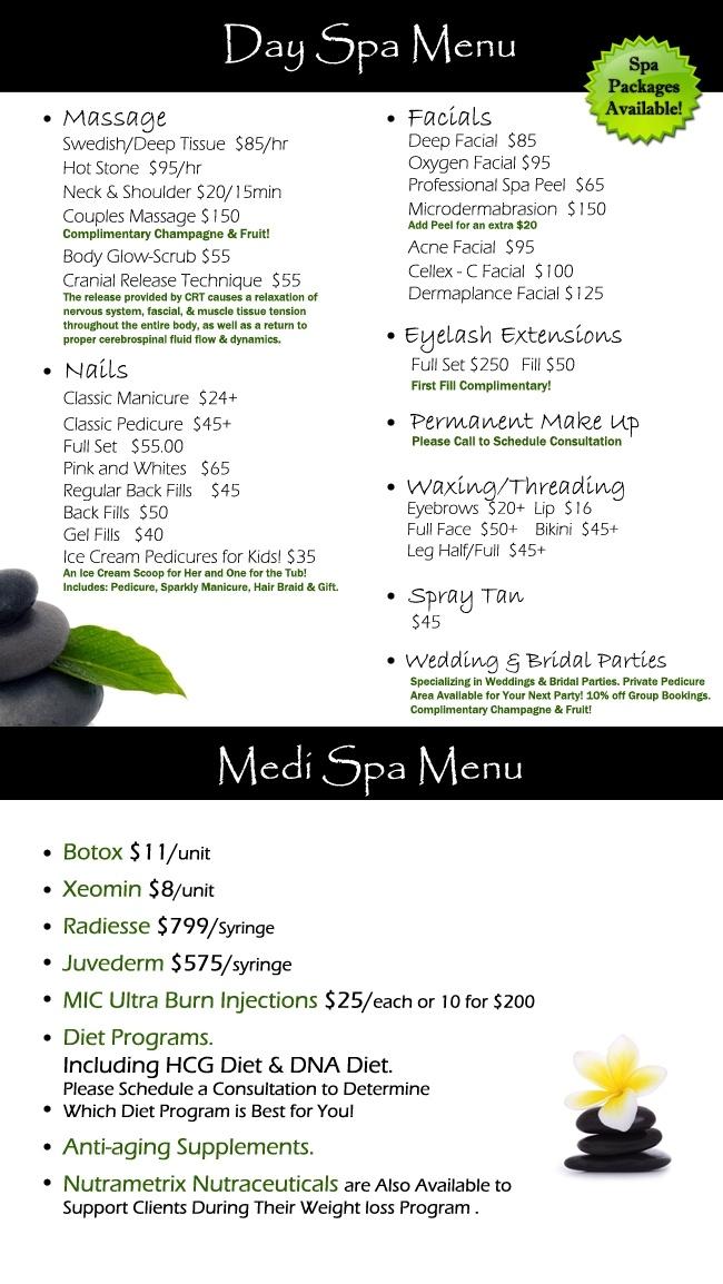 Best Spa Massage Menu Ideas Images On   Spa Massage