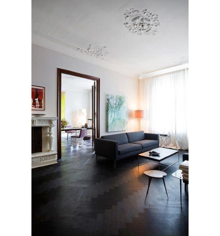 Meer dan 1000 idee n over donkere plafond op pinterest plafonds pulte huizen en kelder plafonds - Badkamer zwarte vloer ...