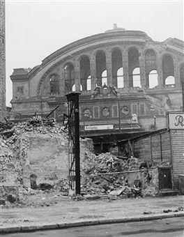 Berlin: Anhalter Bahnhof, Ruine 1948