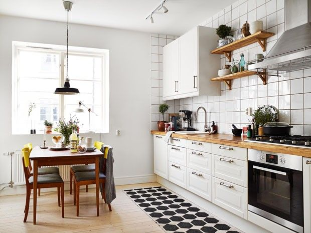 Décor do dia: cozinha sueca com muita luz Um ambiente amplo e cozy
