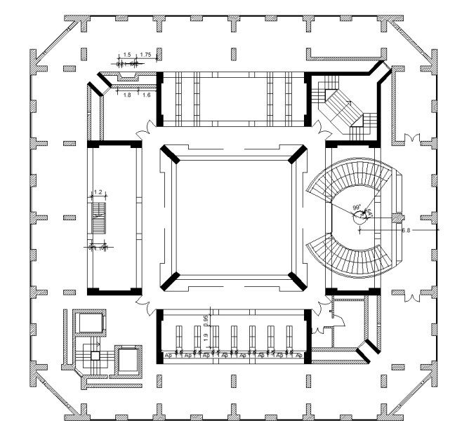 Exeter Library U2013 Louis Kahn | Free Cad Blocks U0026 Drawings Download Center