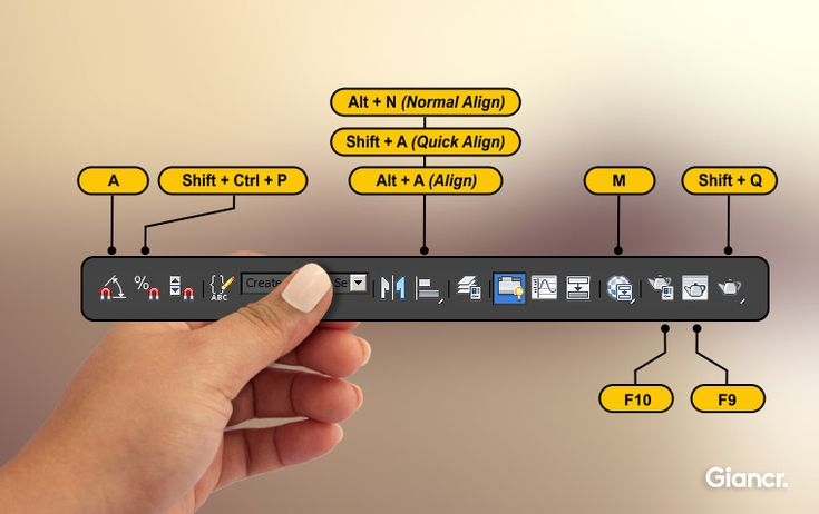 main toolbar shortcuts 3ds max