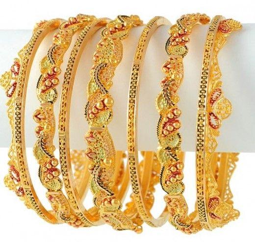 Gold Bangles Fashion for Brides