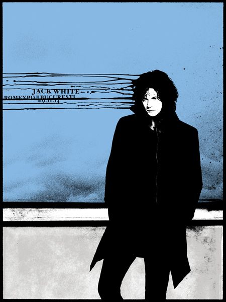 Jack White gig poster by Rob Jones