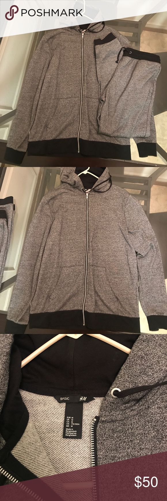 H&M jogging suit Black and grey light jogging suit in excellent condition no stains no flaws H&M Shirts Sweatshirts & Hoodies
