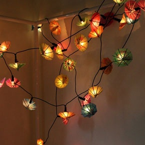 Cocktail umbrella lights - party lighting - tropical - colourful