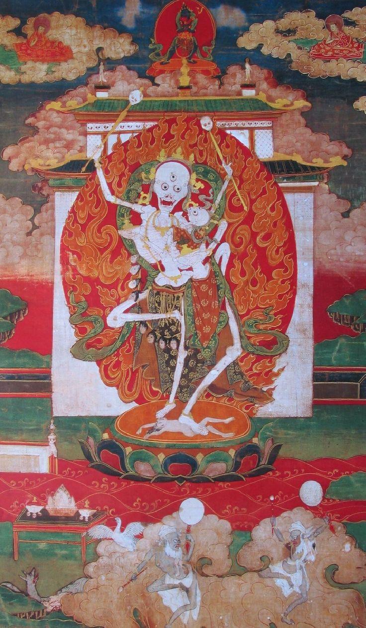 Kinkara,Citipati,Tibet