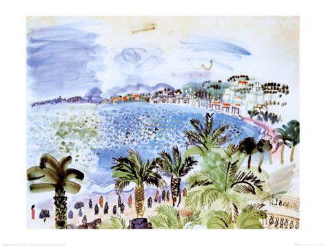 La Promenade des Anglais, c.1928 Posters by Raoul Dufy at AllPosters.com