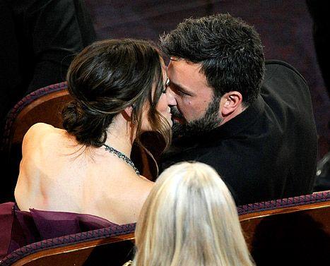 Ben Affleck and Jennifer Garner at the 2013 Oscars