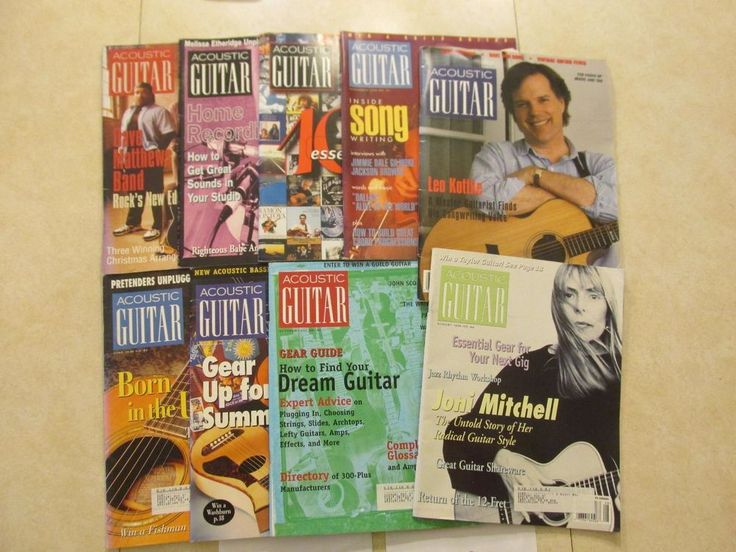 Year 1992 1996  Acoustic Guitar Magazine 9 Issue lot Joni Mitchell and more