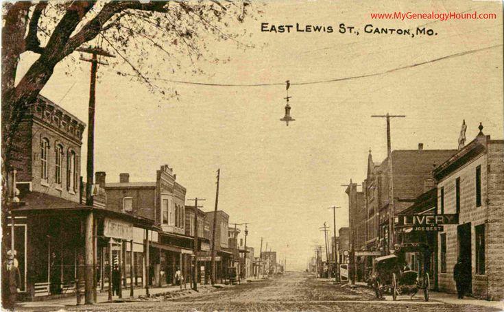 Canton missouri east lewis street vintage postcard