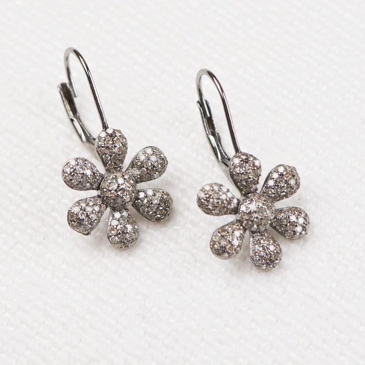 Diamond Daisy Earrings