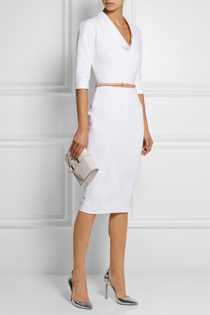 Victoria Beckham | Belted stretch cotton-blend dress | NET-A-PORTER.COM