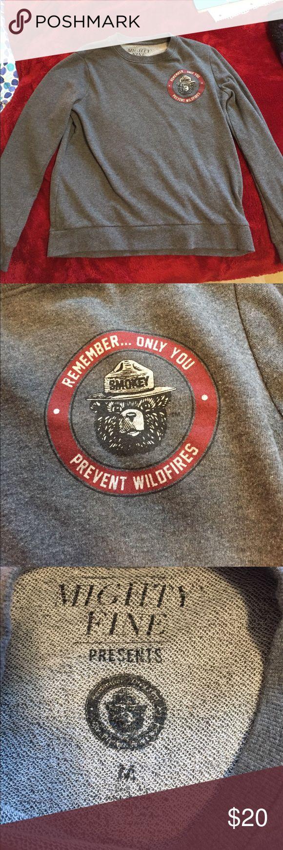 "Selling this ""Smokey the Bear"" Crew Neck from Target on Poshmark! My username is: emilywerfel. #shopmycloset #poshmark #fashion #shopping #style #forsale #Mighty Fine #Sweaters"
