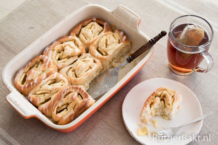 Recept: Opgerolde appelbuns (Rutger Bakt)