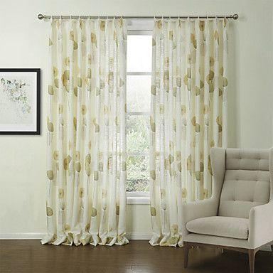 ország két panel virágos botanikai zöld hálószoba poliészter panel függöny drapéria 982356 2016 – $65.69