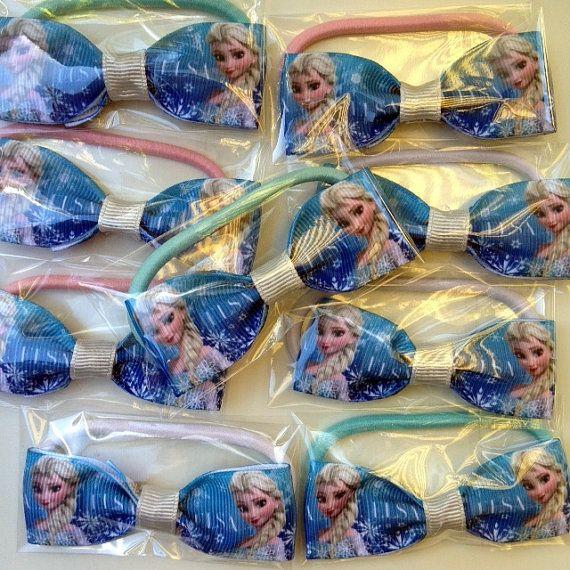 20 Birthday Favor Packs FROZEN ELSA  Hairbow by OliverandMay, $33.95