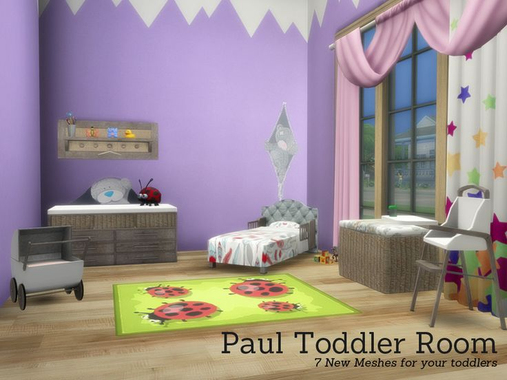 lana cc finds - paul toddler roomangela | ts4 toddlers bedroom